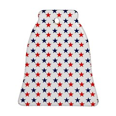 Patriotic Red White Blue Stars Usa Ornament (bell)