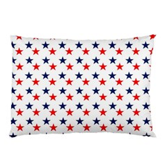 Patriotic Red White Blue Stars Usa Pillow Case (two Sides)