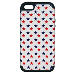 Patriotic Red White Blue Stars Usa Apple Iphone 5 Hardshell Case (pc+silicone)
