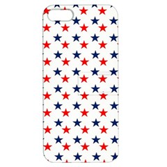 Patriotic Red White Blue Stars Usa Apple Iphone 5 Hardshell Case With Stand