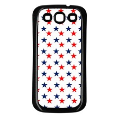Patriotic Red White Blue Stars Usa Samsung Galaxy S3 Back Case (black)