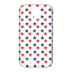 Patriotic Red White Blue Stars Usa Samsung Galaxy S4 Classic Hardshell Case (pc+silicone)