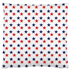 Patriotic Red White Blue Stars Usa Standard Flano Cushion Case (two Sides)