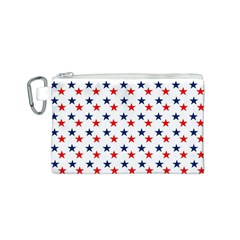 Patriotic Red White Blue Stars Usa Canvas Cosmetic Bag (s)
