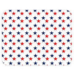 Patriotic Red White Blue Stars Usa Double Sided Flano Blanket (medium)
