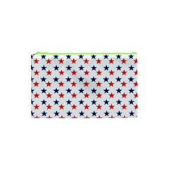 Patriotic Red White Blue Stars Usa Cosmetic Bag (xs)