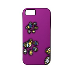 Footprints Paw Animal Track Foot Apple Iphone 5 Classic Hardshell Case (pc+silicone)
