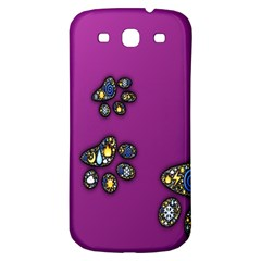 Footprints Paw Animal Track Foot Samsung Galaxy S3 S Iii Classic Hardshell Back Case