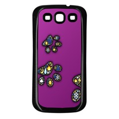Footprints Paw Animal Track Foot Samsung Galaxy S3 Back Case (black)