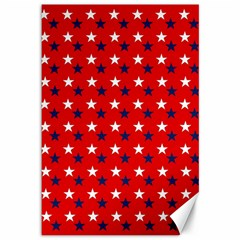 Patriotic Red White Blue Usa Canvas 12  X 18