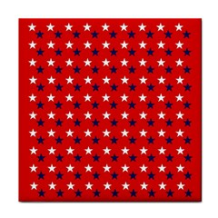 Patriotic Red White Blue Usa Face Towel