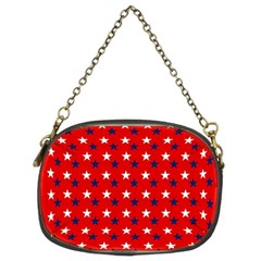Patriotic Red White Blue Usa Chain Purses (two Sides)