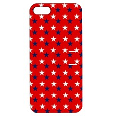 Patriotic Red White Blue Usa Apple Iphone 5 Hardshell Case With Stand