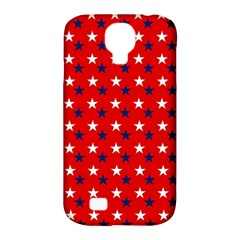 Patriotic Red White Blue Usa Samsung Galaxy S4 Classic Hardshell Case (pc+silicone)