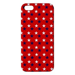 Patriotic Red White Blue Usa Iphone 5s/ Se Premium Hardshell Case