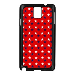 Patriotic Red White Blue Usa Samsung Galaxy Note 3 N9005 Case (black)