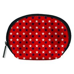 Patriotic Red White Blue Usa Accessory Pouches (medium)