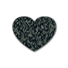 Camouflage Tarn Military Texture Heart Coaster (4 Pack)