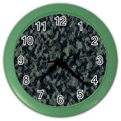 Camouflage Tarn Military Texture Color Wall Clocks
