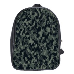 Camouflage Tarn Military Texture School Bag (xl)
