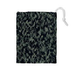 Camouflage Tarn Military Texture Drawstring Pouches (large)