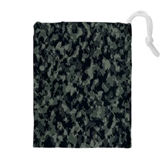 Camouflage Tarn Military Texture Drawstring Pouches (extra Large)