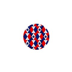 Patriotic Red White Blue 3d Stars 1  Mini Magnets