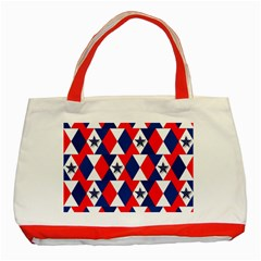 Patriotic Red White Blue 3d Stars Classic Tote Bag (red)