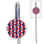 Patriotic Red White Blue 3d Stars Book Mark Front