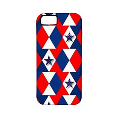 Patriotic Red White Blue 3d Stars Apple Iphone 5 Classic Hardshell Case (pc+silicone)
