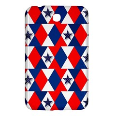 Patriotic Red White Blue 3d Stars Samsung Galaxy Tab 3 (7 ) P3200 Hardshell Case