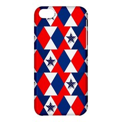 Patriotic Red White Blue 3d Stars Apple Iphone 5c Hardshell Case