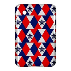 Patriotic Red White Blue 3d Stars Samsung Galaxy Tab 2 (7 ) P3100 Hardshell Case