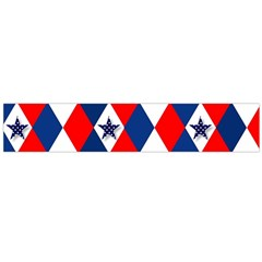 Patriotic Red White Blue 3d Stars Large Flano Scarf