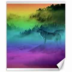 Yellowstone Wolfs Sunset Canvas 20  X 24