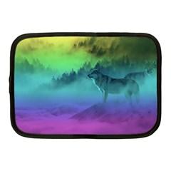 Yellowstone Wolfs Sunset Netbook Case (medium)