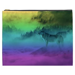 Yellowstone Wolfs Sunset Cosmetic Bag (xxxl)