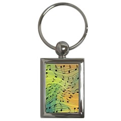 Music Notes Key Chains (rectangle)