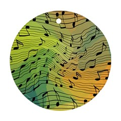 Music Notes Round Ornament (two Sides)