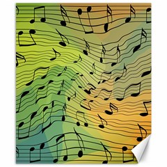 Music Notes Canvas 8  X 10