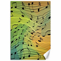 Music Notes Canvas 12  X 18