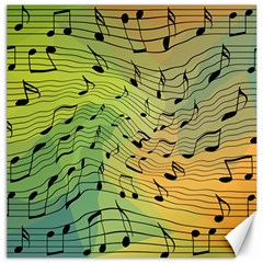 Music Notes Canvas 16  X 16