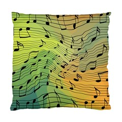 Music Notes Standard Cushion Case (one Side)