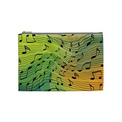 Music Notes Cosmetic Bag (medium)