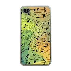 Music Notes Apple Iphone 4 Case (clear)