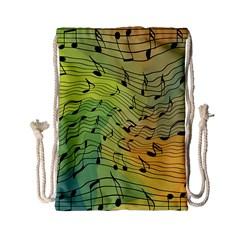 Music Notes Drawstring Bag (small)