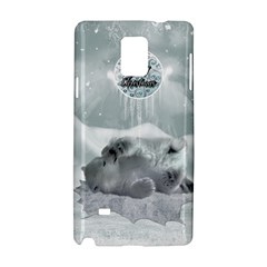 Cute Polar Bear Baby, Merry Christmas Samsung Galaxy Note 4 Hardshell Case