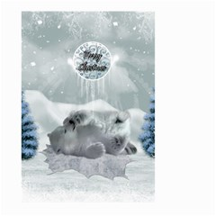 Cute Polar Bear Baby, Merry Christmas Large Garden Flag (two Sides)