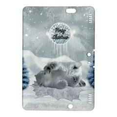 Cute Polar Bear Baby, Merry Christmas Kindle Fire Hdx 8 9  Hardshell Case