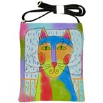 Colorful Cat Shoulder Sling Bag Shoulder Sling Bags Front